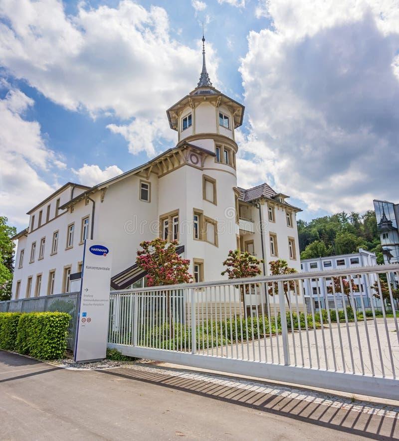 Företags huvudkontor av Hartmann AG, Heidenheim, Tyskland royaltyfria foton
