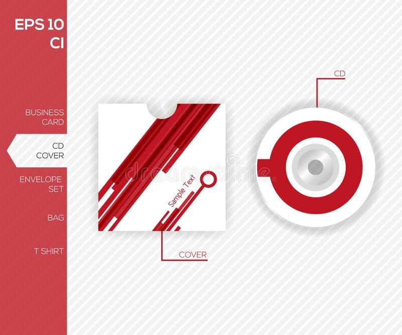 Företags identitetsdesign för affären - CD arkivfoto