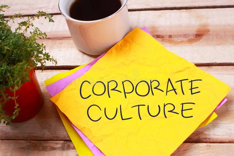 Företags kultur, Motivational begrepp för affärsordcitationstecken arkivbilder