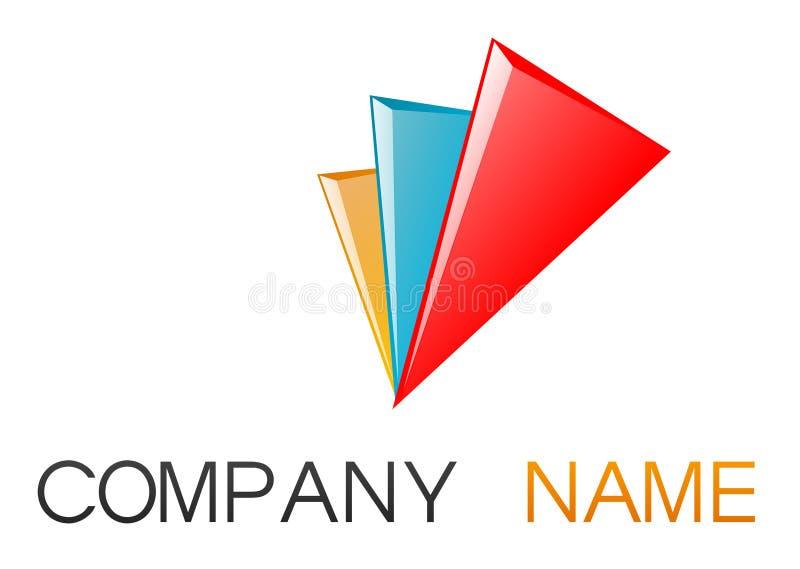 företags logo stock illustrationer