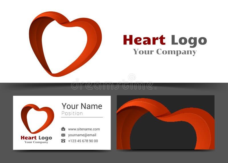 Företags logo för hälsovård och mall för tecken för affärskort stock illustrationer