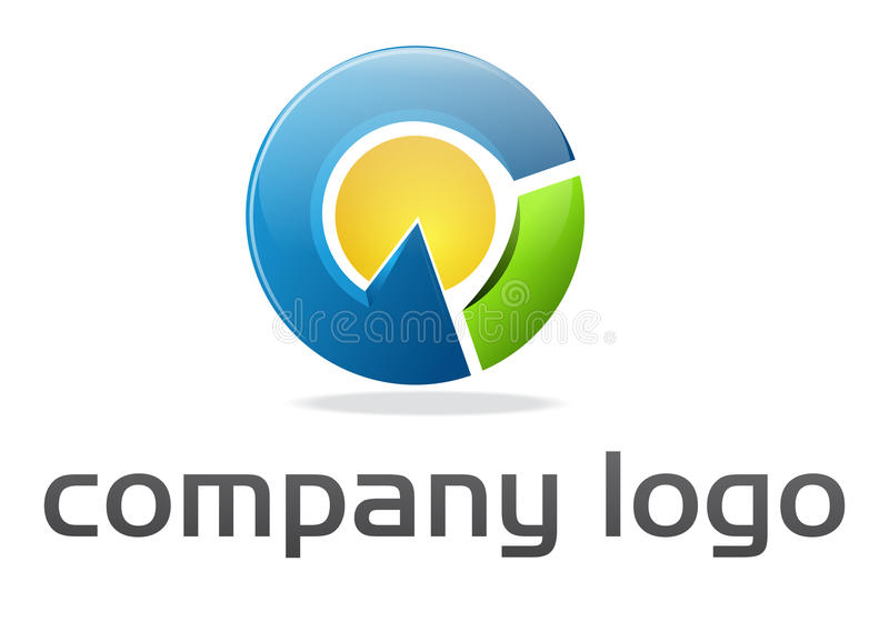 företags logospherevektor royaltyfri illustrationer
