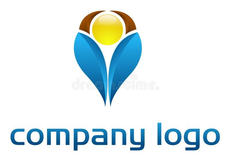 företags logovektor stock illustrationer