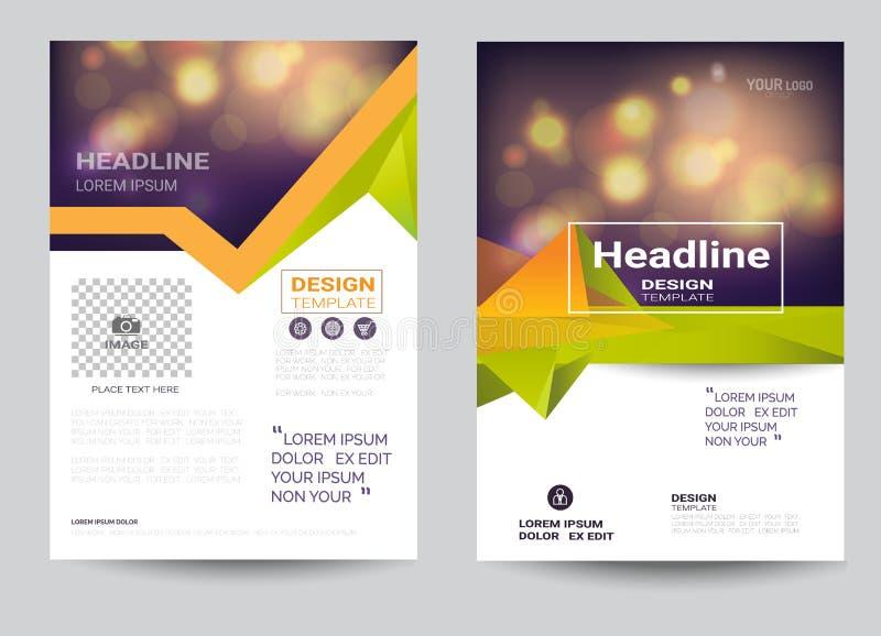 Företags mall för orientering för broschyrreklambladdesign i formatet A4 vektor illustrationer