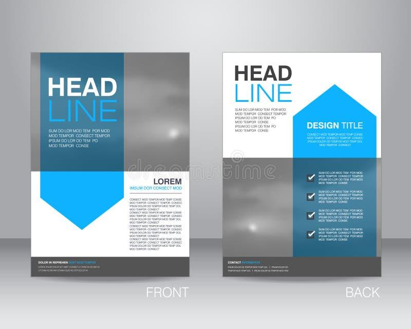 Företags mall för orientering för broschyrreklambladdesign i formatet A4, med stock illustrationer