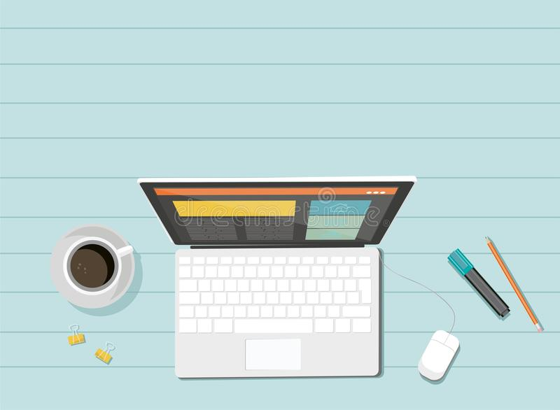 Företags organisation för affär vektor för bildskärm för datortangentbord Svars- rengöringsdukdesign royaltyfri illustrationer