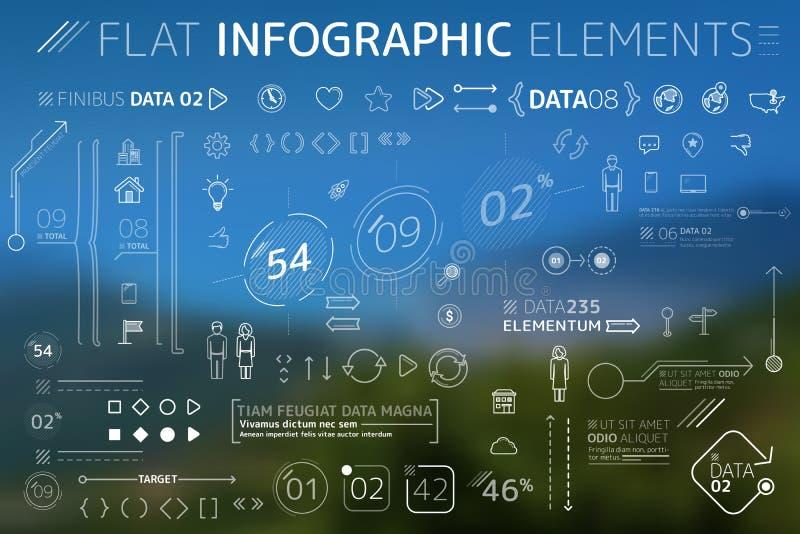 Företags plan Infographic beståndsdelsamling royaltyfri illustrationer