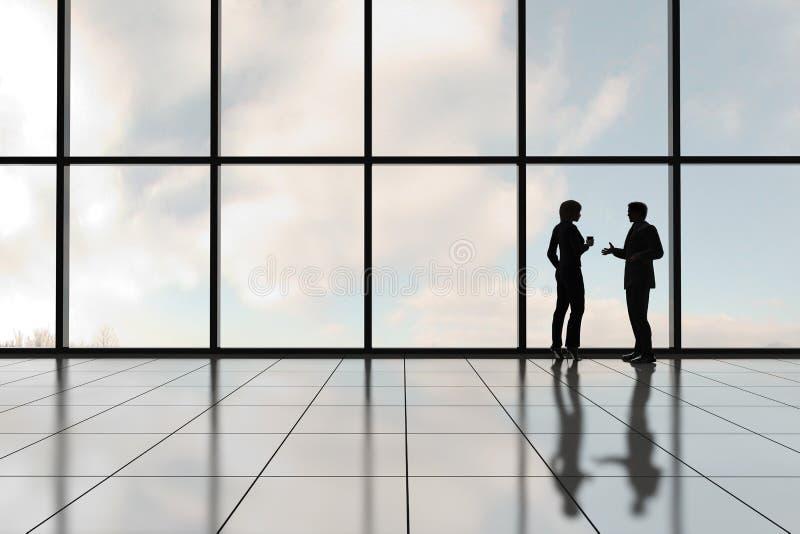 företags profiler stock illustrationer