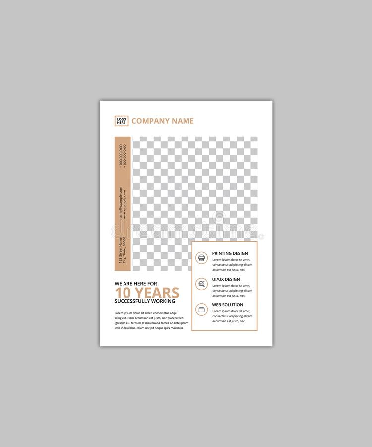 Företags reklambladmall för Minimalist A5 royaltyfri illustrationer