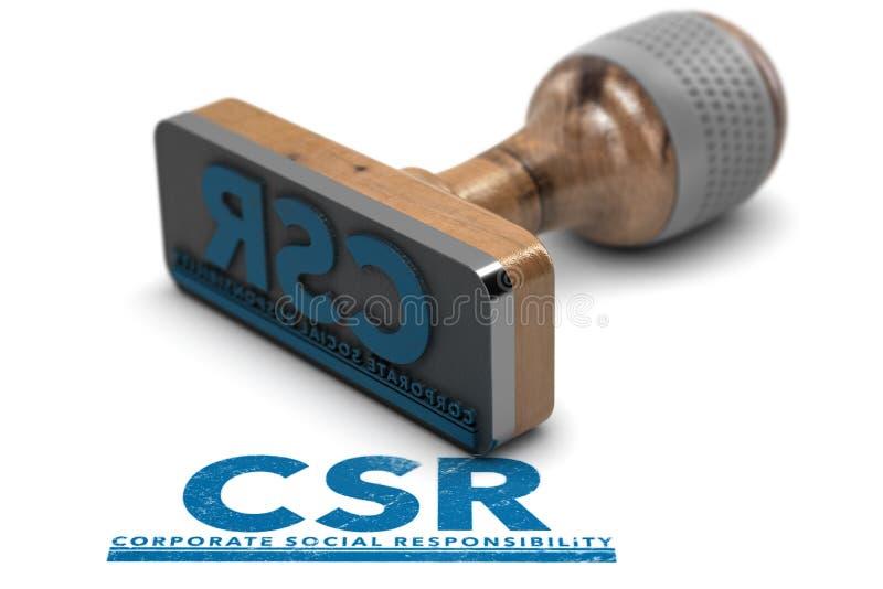 Företags socialt ansvar, CSR stock illustrationer