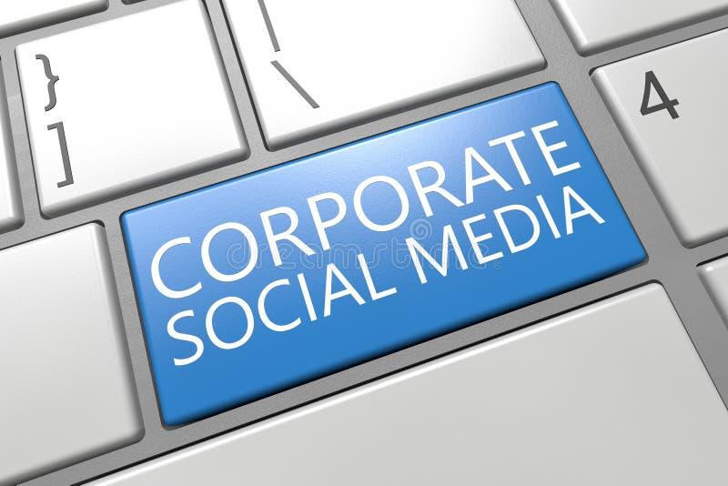 Företags socialt massmedia stock illustrationer