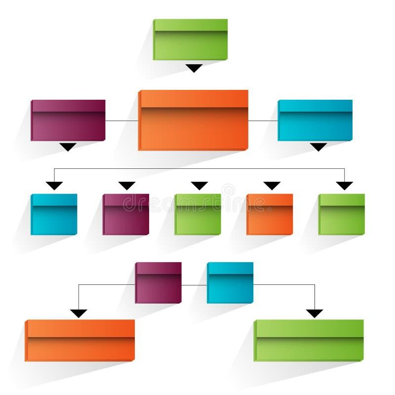 företags symbol för organisatoriskt diagram 3d vektor illustrationer