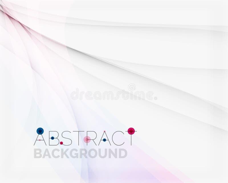 Företags vit bakgrund med försiktigt flöda stock illustrationer