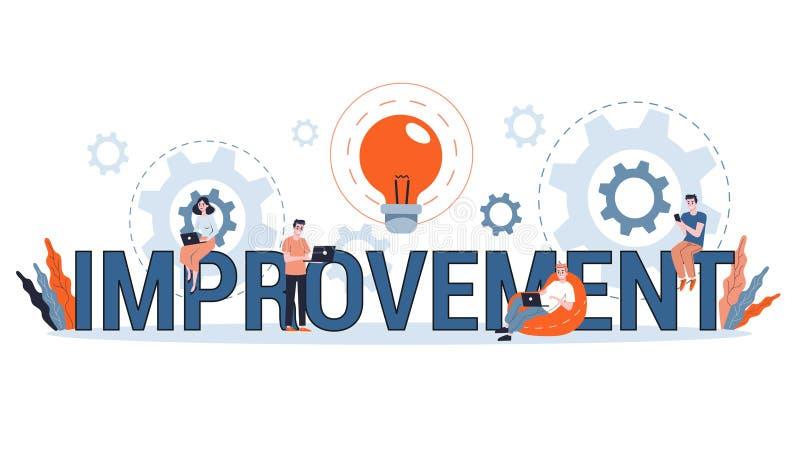 Företagsförbättringar, personlig utveckling och framstegskoncept royaltyfri illustrationer