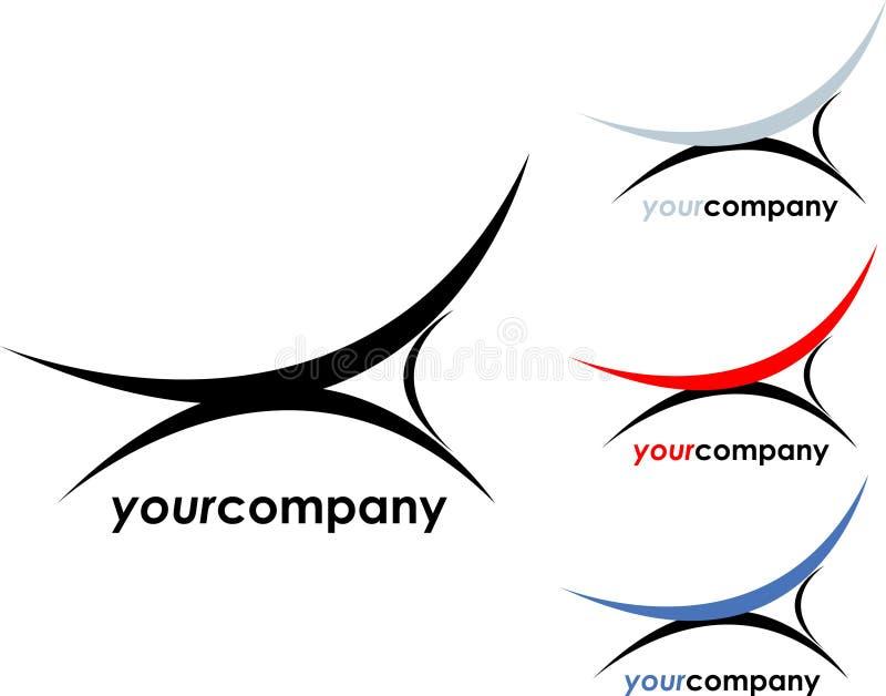 företagsinteriorlogo royaltyfri illustrationer