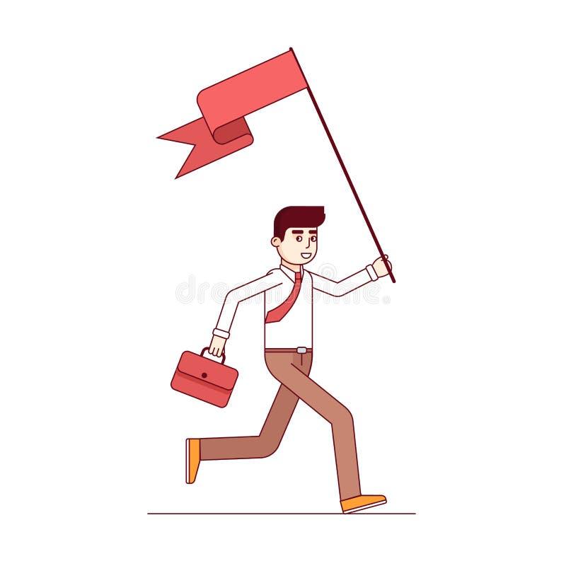 Företagsledarespring och leda vägen royaltyfri illustrationer