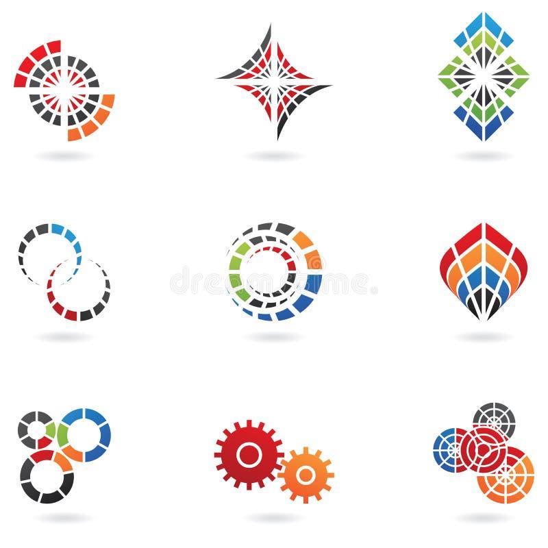 företagslogoer namnger ditt royaltyfri illustrationer