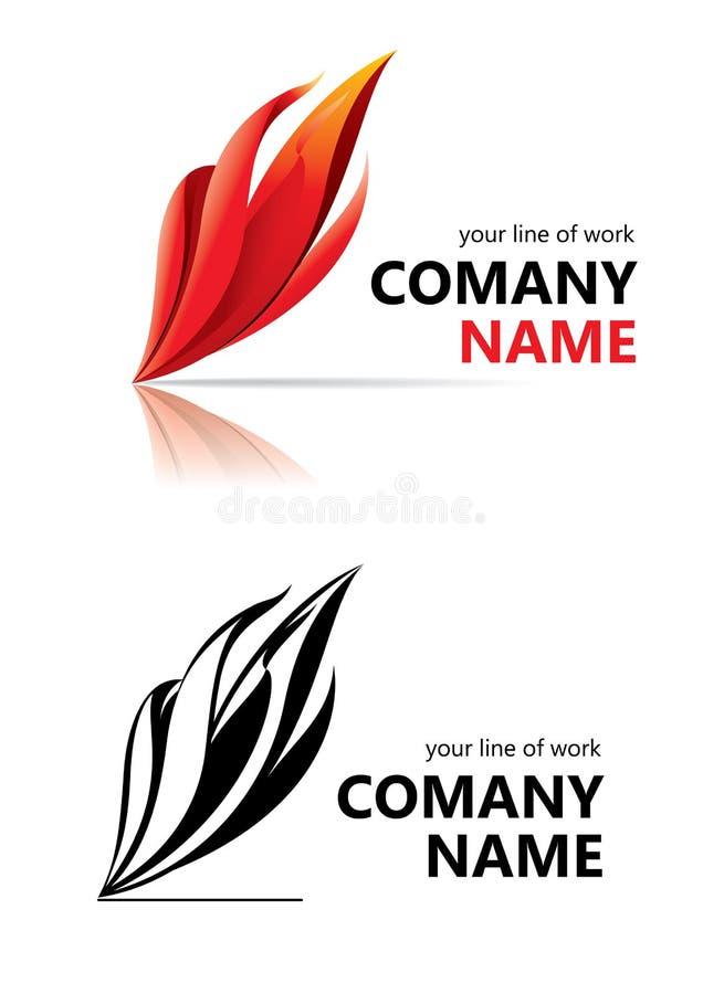 företagslogonamn royaltyfri illustrationer