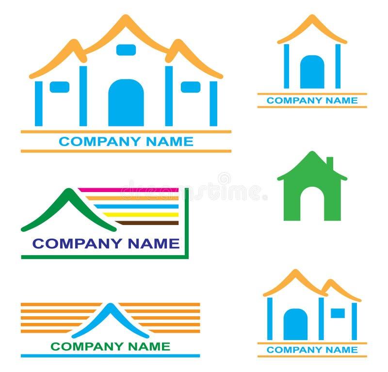 företagsnamn vektor illustrationer