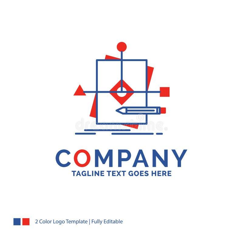 Företagsnamn Logo Design For Algorithm, affär som förutsäger, p stock illustrationer