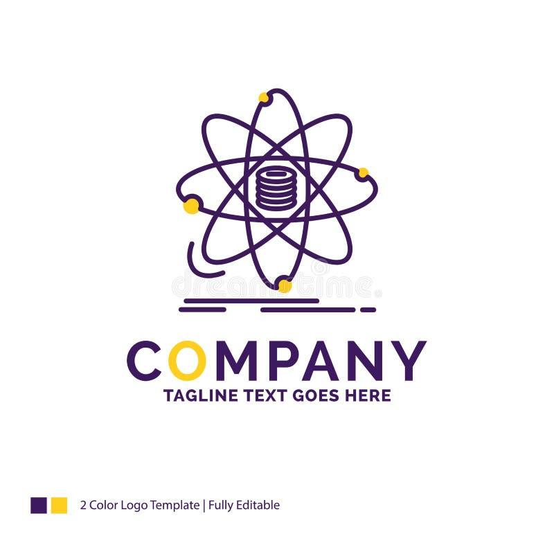 Företagsnamn Logo Design For Analysis, data, information som är resear royaltyfri illustrationer
