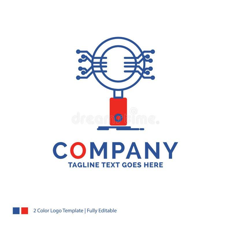 Företagsnamn Logo Design For Analysis, sökande, information som är rese vektor illustrationer