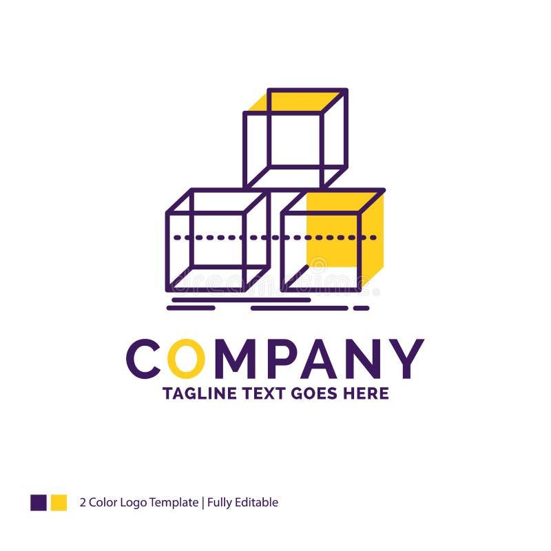 Företagsnamn Logo Design For Arrange, design, bunt, 3d, ask r stock illustrationer