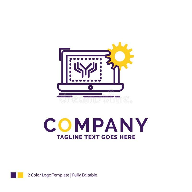 Företagsnamn Logo Design For Blueprint, strömkrets, elektronik, en stock illustrationer