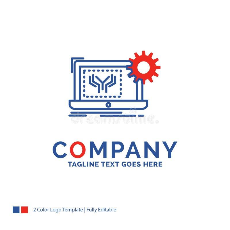 Företagsnamn Logo Design For Blueprint, strömkrets, elektronik, en vektor illustrationer