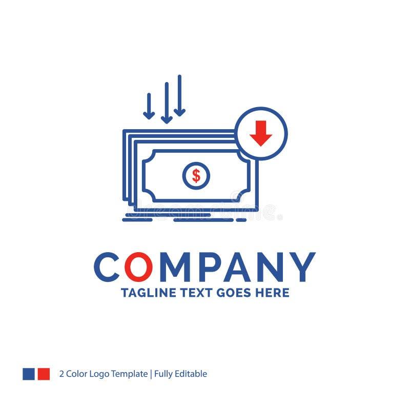 Företagsnamn Logo Design For Business, kostnad, snitt, kostnad som är finan stock illustrationer