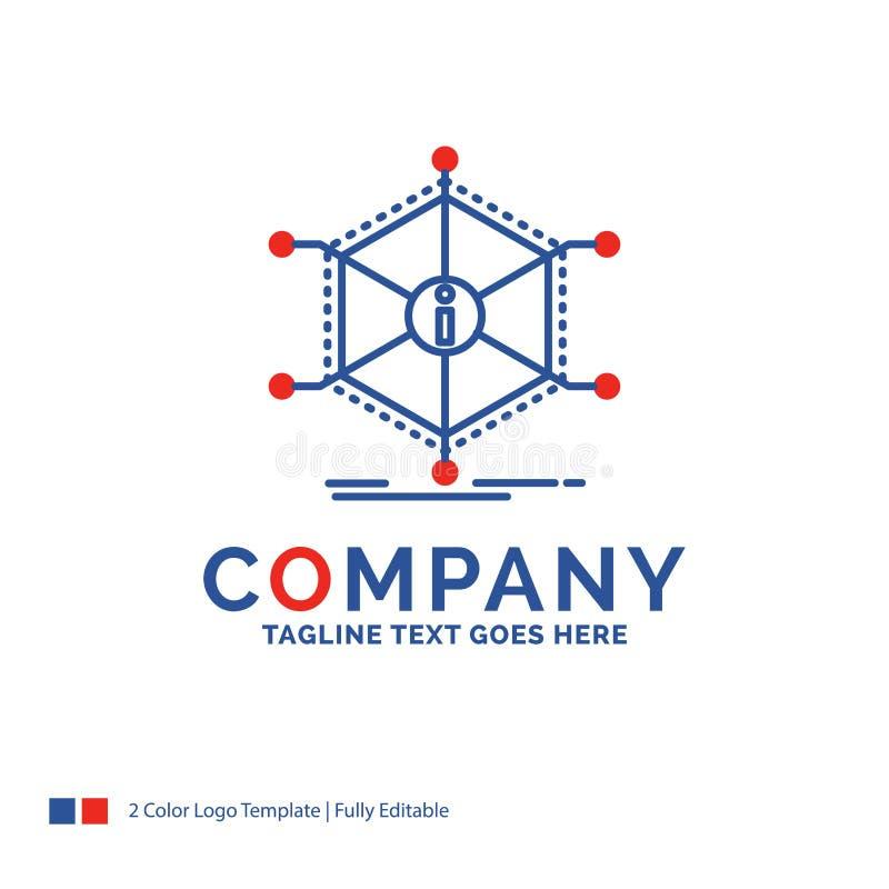 Företagsnamn Logo Design For Data, hjälp, information, information, reso royaltyfri illustrationer