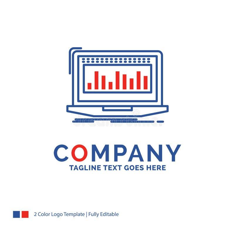 Företagsnamn Logo Design For Data som är finansiell, index, övervakning vektor illustrationer