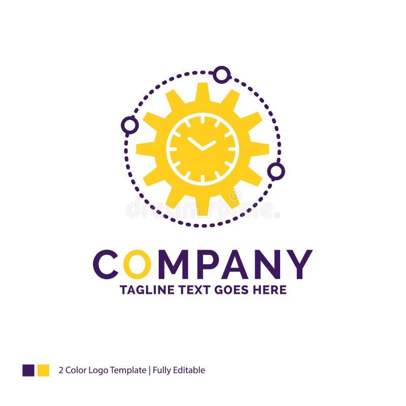 Företagsnamn Logo Design For Efficiency, ledning som bearbetar vektor illustrationer