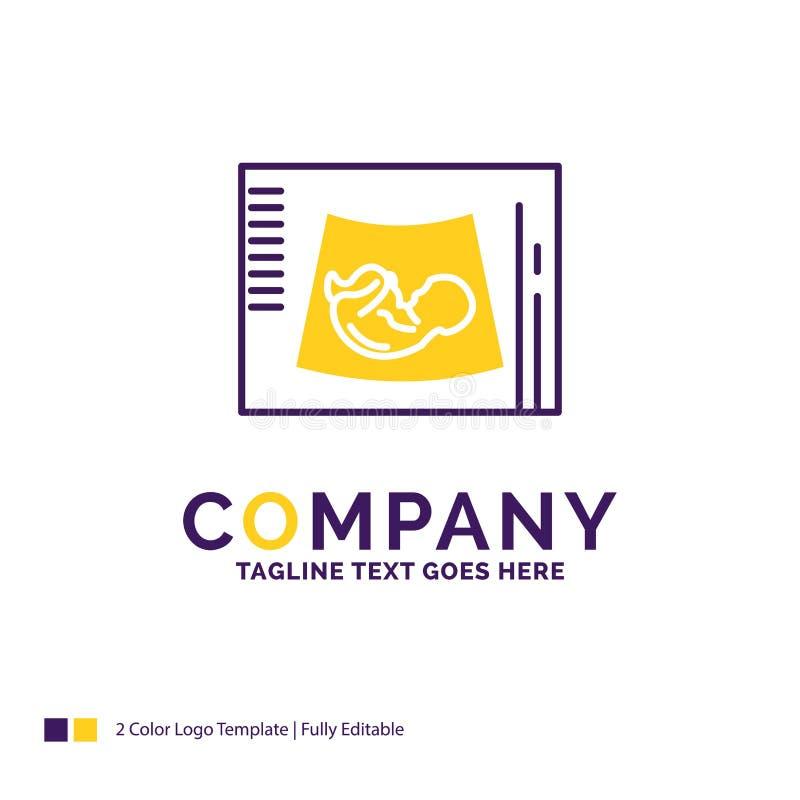Företagsnamn Logo Design For Maternity, havandeskap, sonogram, bab vektor illustrationer