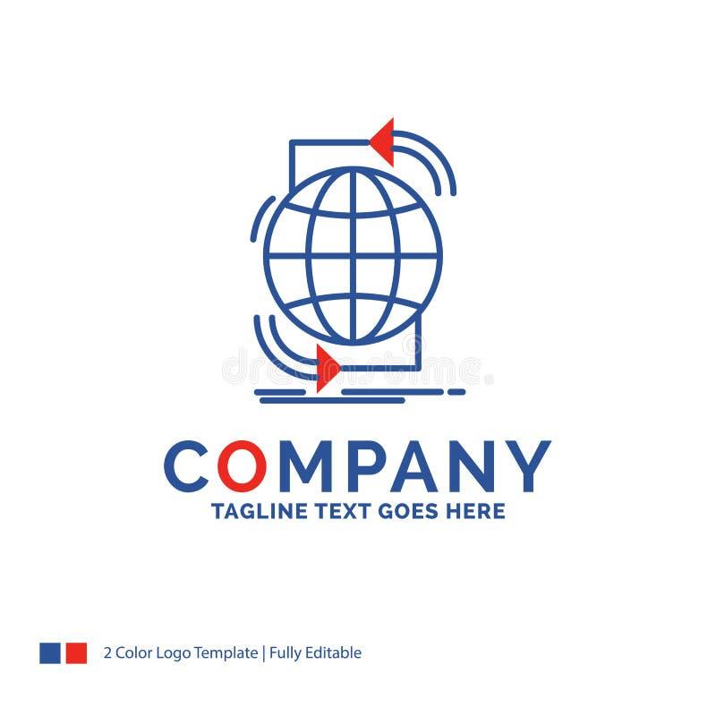 Företagsnamnet Logo Design For Connectivity som är global, internet, förtjänar royaltyfri illustrationer