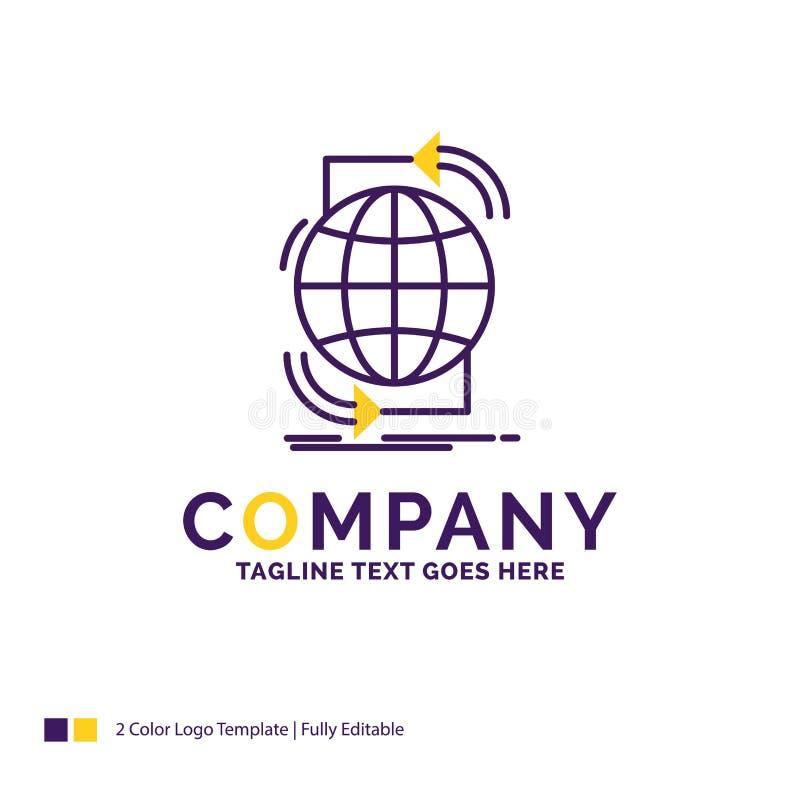 Företagsnamnet Logo Design For Connectivity som är global, internet, förtjänar stock illustrationer
