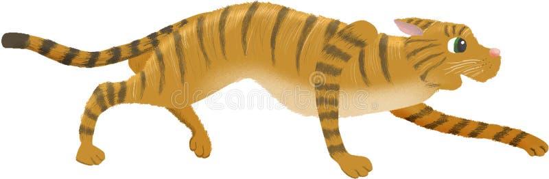 Förfölja för strimmig kattkatt vektor illustrationer