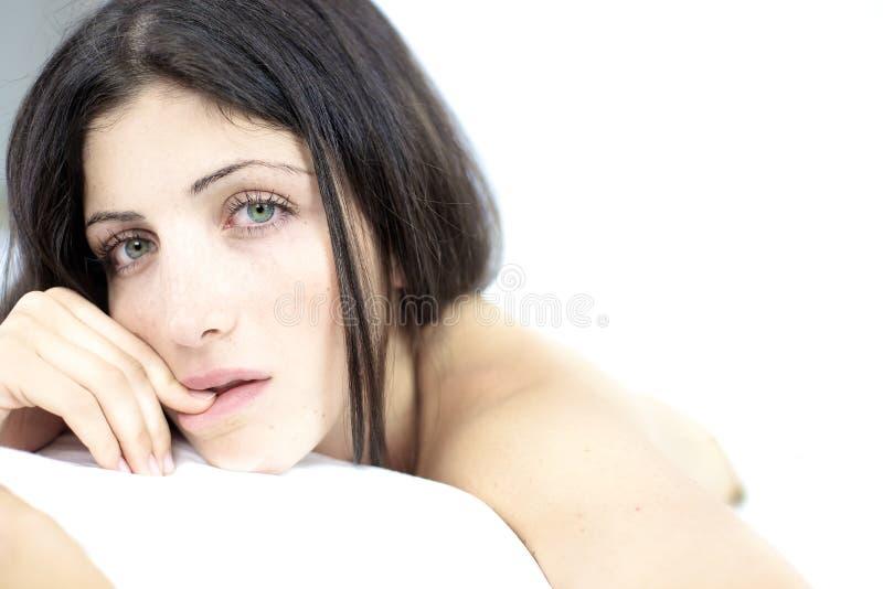 Förföriskt naket se för kvinna fotografering för bildbyråer