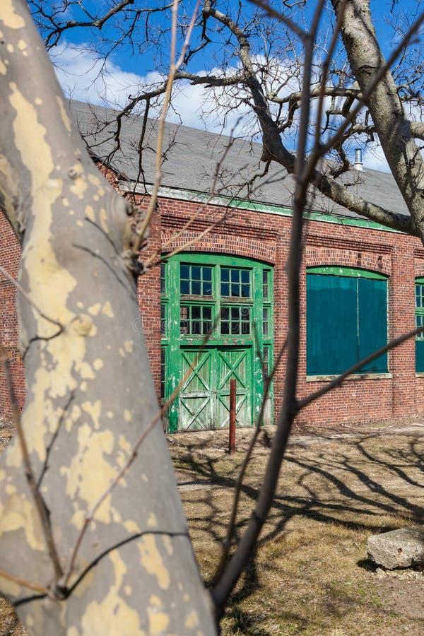 Förfalla dörrar på Sandy Hook arkivfoto