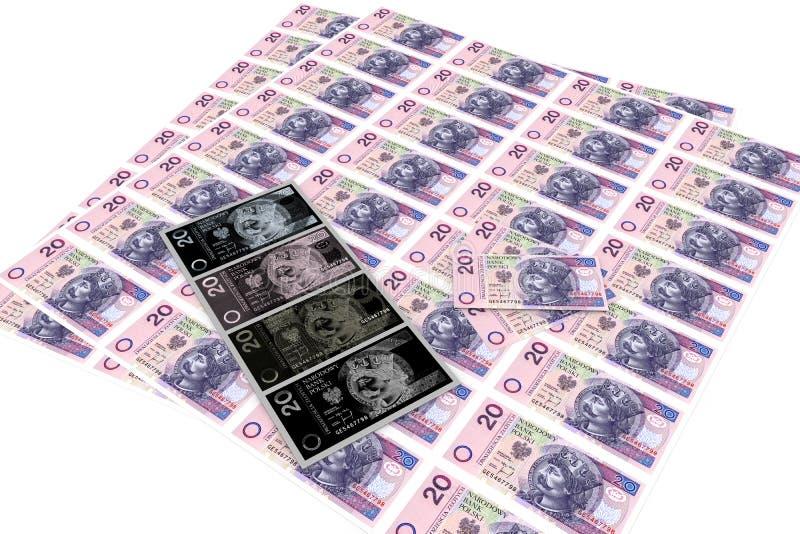 förfalskada pengar royaltyfri illustrationer