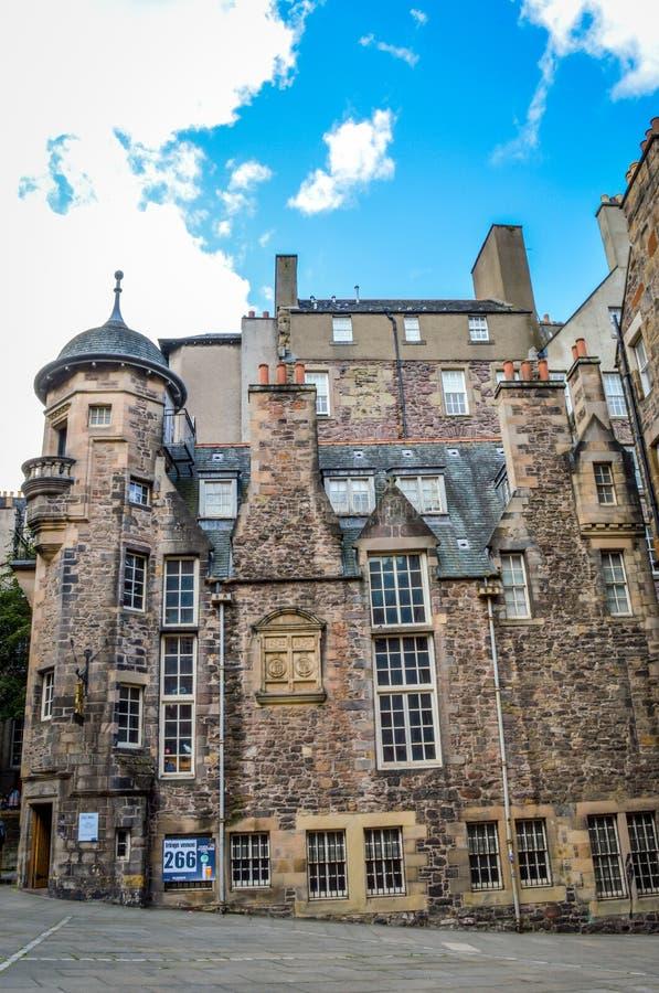 Författare`-museet, Edinburg, Skottland fotografering för bildbyråer