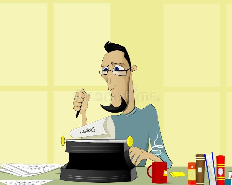 Författare på arbetsillustrationen royaltyfri illustrationer