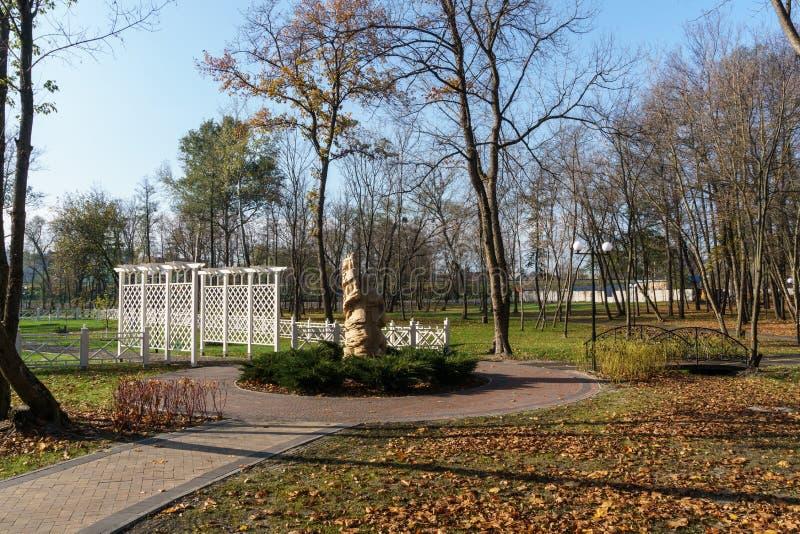 Författare` s parkerar Irpin ukraine arkivbilder