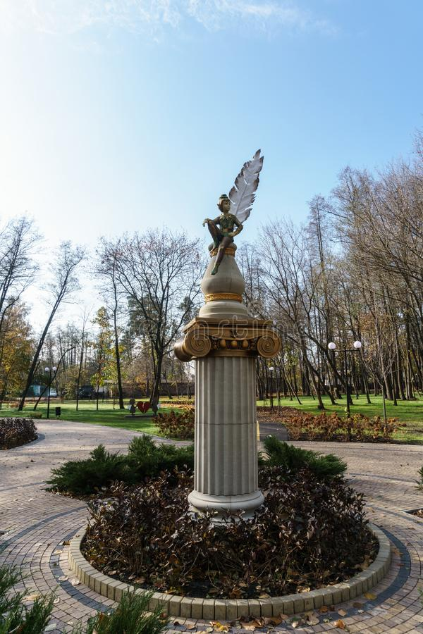 Författare` s parkerar Irpin ukraine royaltyfri bild