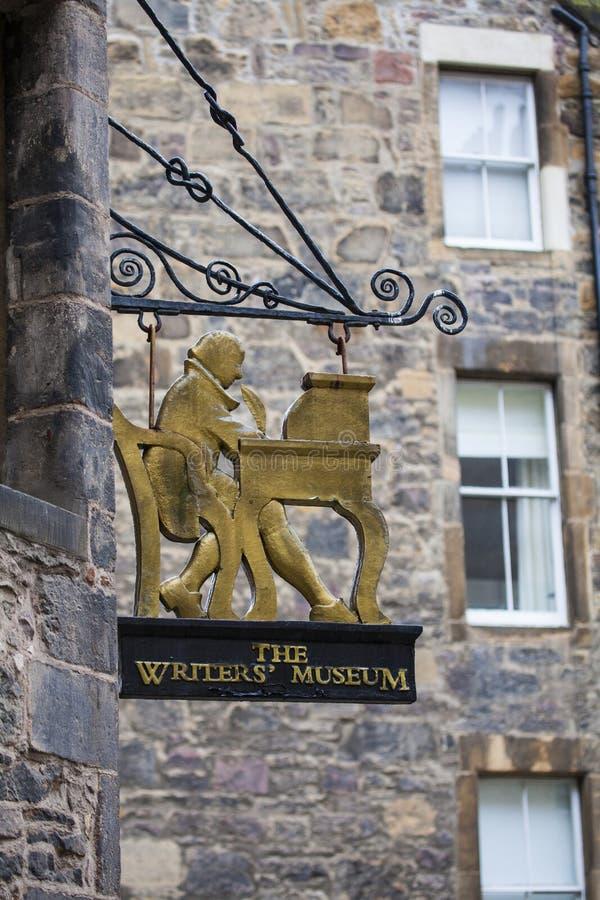 Författaremuseet i Edinburg royaltyfri bild