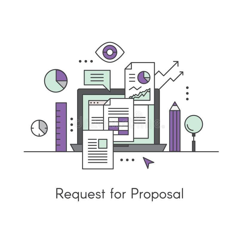 Förfrågan för förslagbegrepp royaltyfri illustrationer