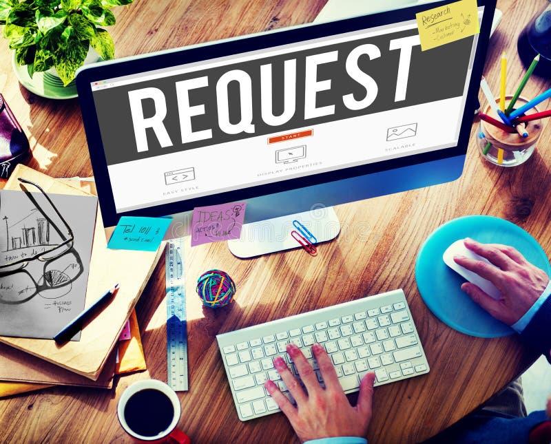 Förfrågankrav Desire Order Demand Concept arkivfoton
