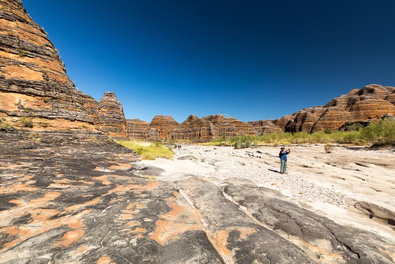 Förfuska förfuskar område, Kimberley, västra Australien royaltyfri bild