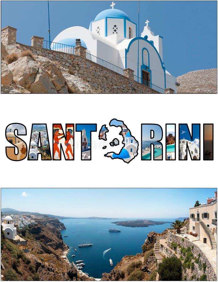 Förhållande 05 för Santorini bokstavsask arkivfoton