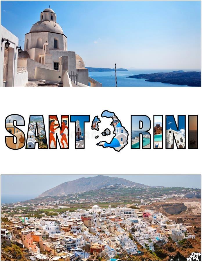 Förhållande 01 för Santorini bokstavsask royaltyfri bild
